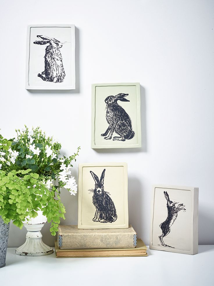 Set of Four Hare Print Blocks   Cox & Cox Gift Guide