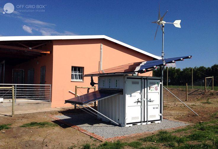 Off Grid Box in South Africa La Fabbrica del Sole + Oxfam Italia