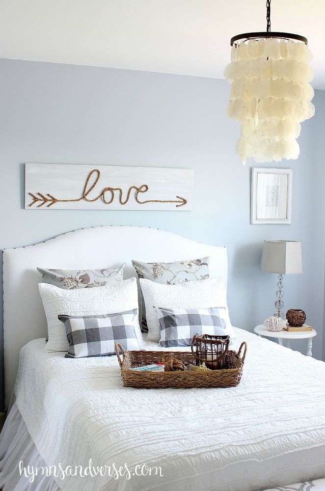 Make a statement (literally) with this cute jute rope love sign. Get the tutorial at Hymns and Verses.