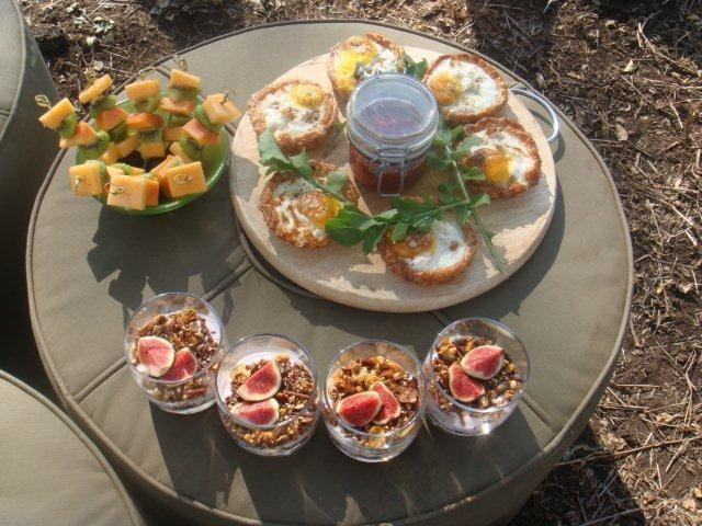 Breakfast is served at Singita Grumeti.