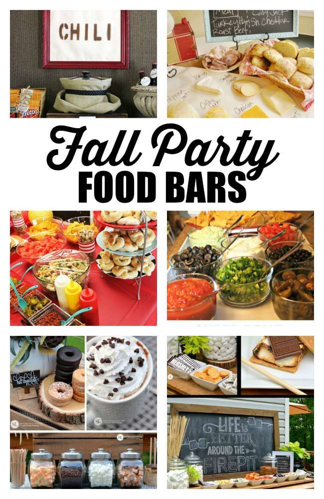 Fall dinner party ideas outdoor parties fall party for Food bar ideas for a party