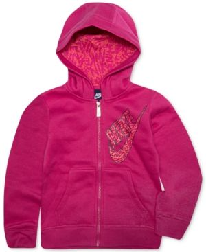 Nike Full-Zip Fleece Hoodie, Toddler Girls (2T-5T) - Pink 3T