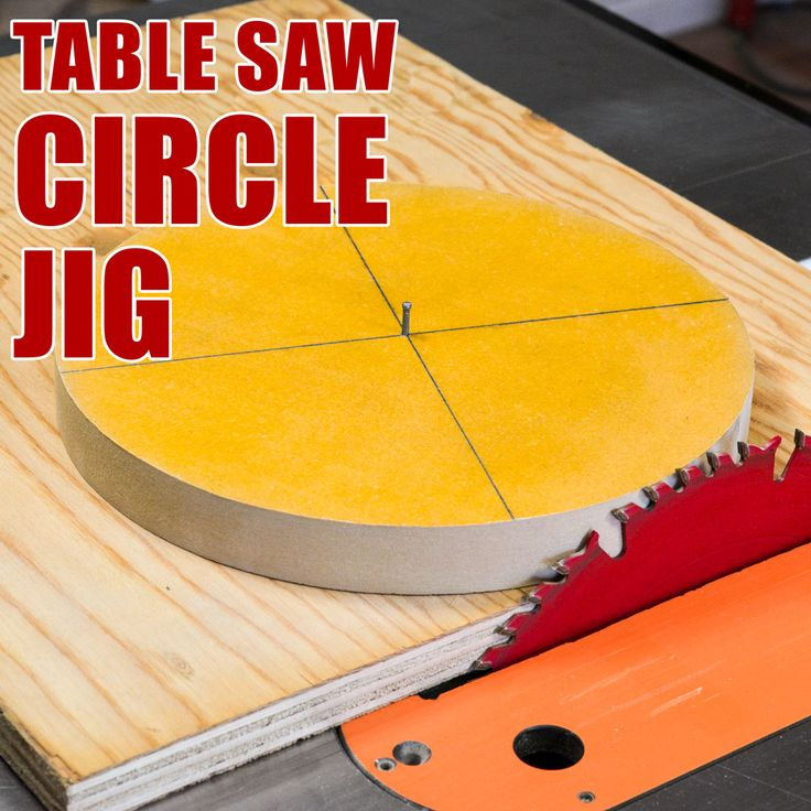 How to Make a Table Saw Circle Cutting Jig!
