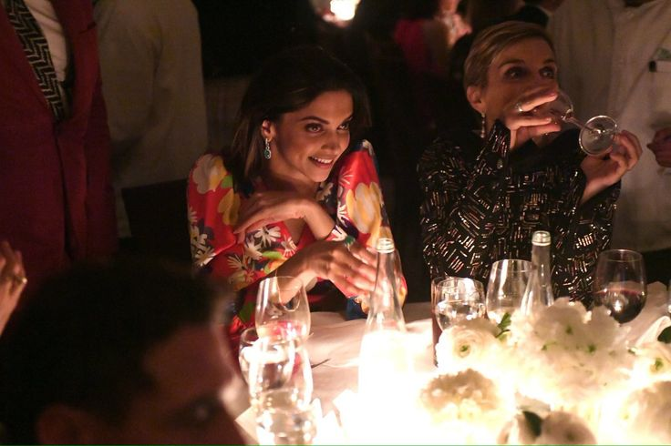 Deepika Padukone and Melita Toscan du Plantier at Charles Finch and Chanel Pre-Oscars Party last week