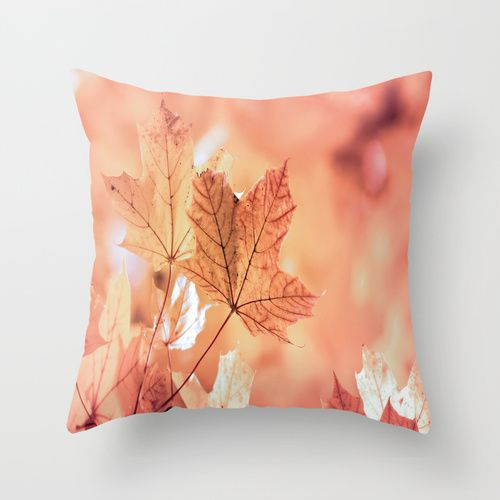 Acer leaves in fall Throw Pillow