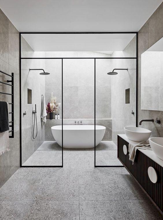 Wet Room Design: 50 Stunning Wet Room Design Ideas #wetrooms In 2020 (With