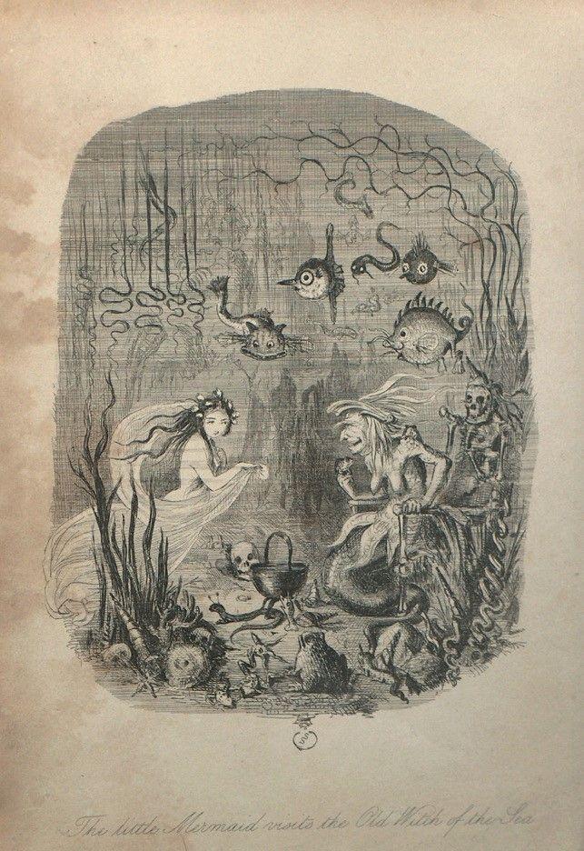 5 - John Leech, La Sirenetta in visita alla vecchia strega del mare