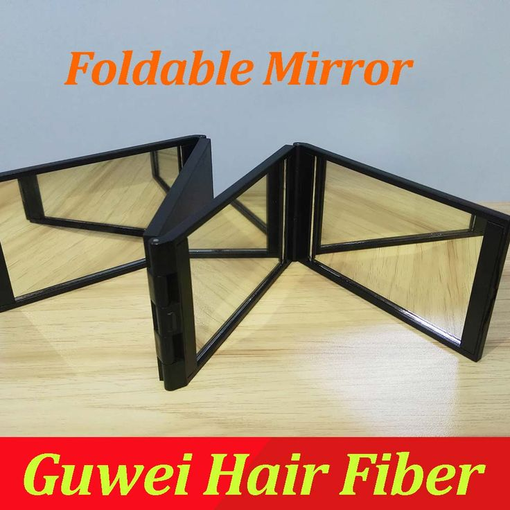 Foldable Multiple applications 1 pc Compact 4 folds Mirror Panel Expandable Makeup Mirror Four Sides with Case Quality