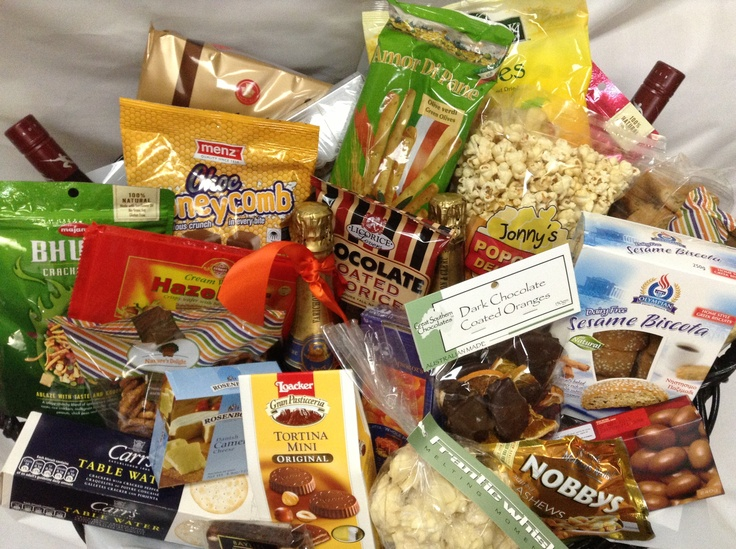 'Basket of the Week' - Amazing Basket, filled with Wine, Savoury and Sweet delights. The Basket was sent to a Residential Care facility to staff as a 'Thank You' gift for taking care of a Family member.