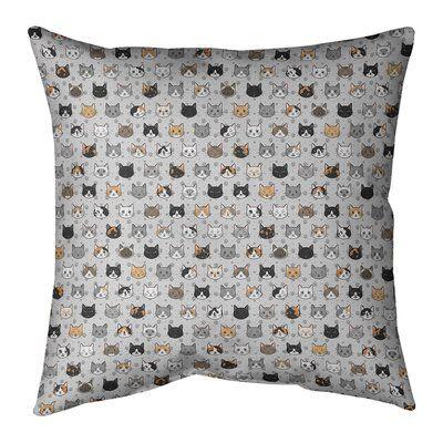 ArtVerse Katelyn Elizabeth Kitty Cat Cotton Throw Pillow