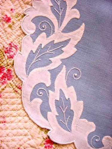 Blue Madeira Vintage Linen Placemats Table Embroidered Mats