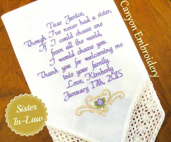 Reserved listing for Kayla Wedding Gift by CanyonEmbroidery