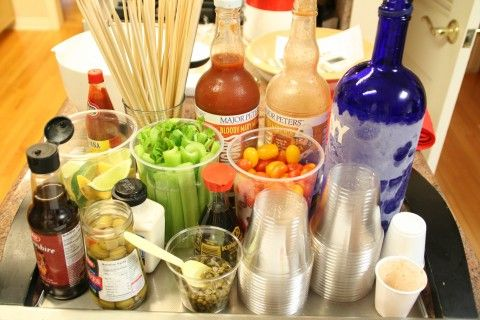 A Shockingly Delicious Idea!  A Make-Your-Own Bloody Mary Bar for Brunch
