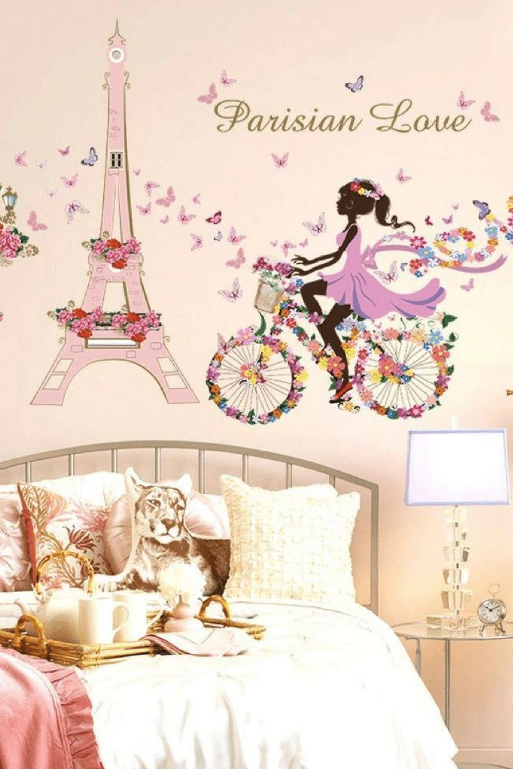 Modern Charming And Artistic Paris Wall Decor Home Wall Art Decor Paris Themed Bedroom Paris Wall Decor Wall Stickers Paris
