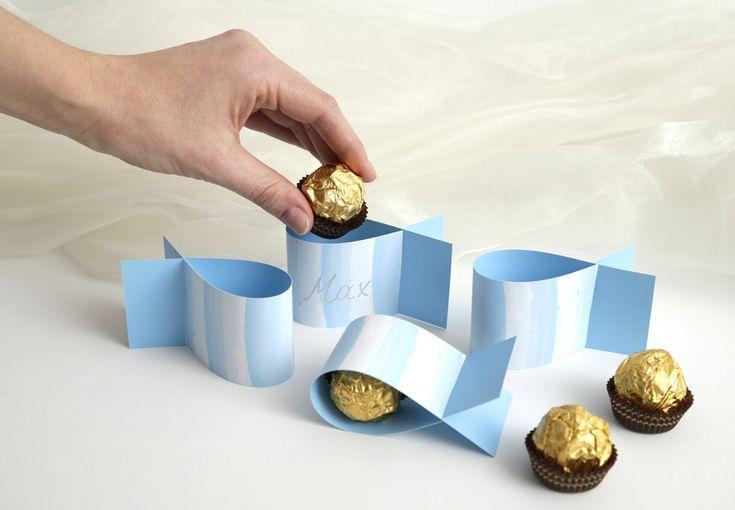 Weiteres - 20 Fische blau / Do-it-yourself Taufdekoration - ein Designerstück von vorfreude-design bei DaWanda