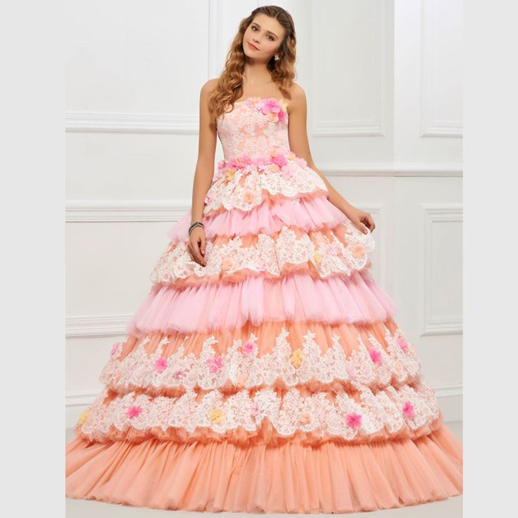 Daffodil Strapless Organza Quinceanera Gown Featuring Beaded Bodice ...