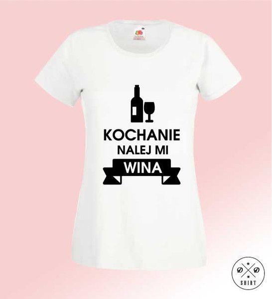 Nalej+Wina,+Damska+koszulka+z+nadrukiem,+w+DDshirt+na+DaWanda.com