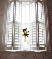 I'd like to buy white planation shutters for the windows in our living/dining area. They're supposed to block out light much better than blinds so that would be perfect for watching movies during the day.