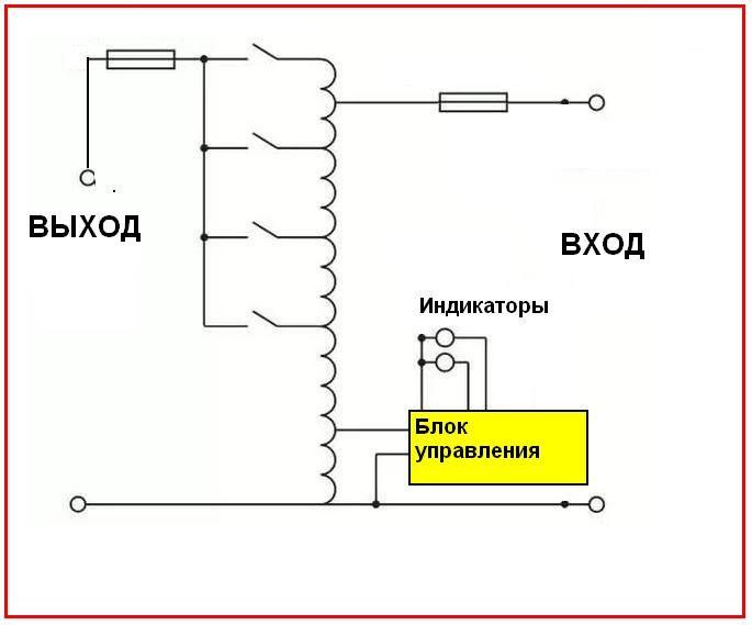 Стабилизатор напряжения 220в для дачи: какой выбрать, рекомендации и обзор популярных моделей http://happymodern.ru/stabilizator-napryazheniya-220v-dlya-doma-kakoj-vybrat/ Принципиальная электрическая схема релейного стабилизатора напряжения