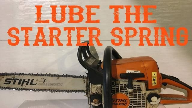 How to Quickly and Easily Lube a Chainsaw Starter Spring
