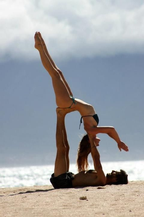 Partner #yoga. More inspiration at: http://www.valenciamindfulnessretreat.org .
