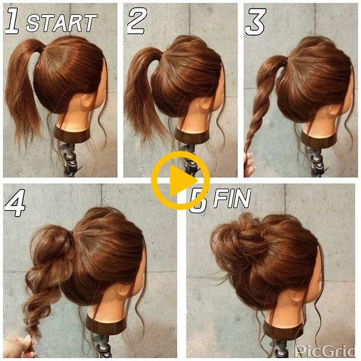 Top 10 Super Easy 5 Minute Hairstyles For Busy Ladies Medium Hair Styles Chignon Hair Hair Styles