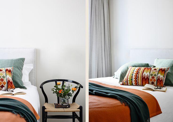 #adelaidebragg #interiordesign #sydneyapartment #contemporaryliving #bedroom #colour