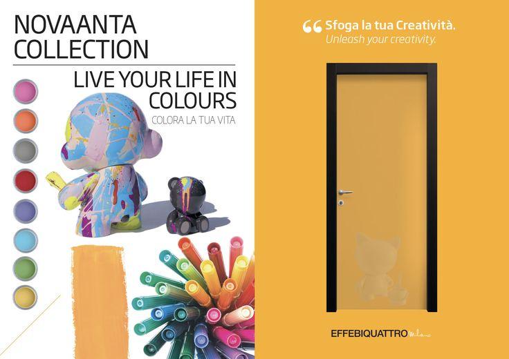 Colora la tua vita! #novaantacolours #colour #effebiquattro #design #effebiquattrolab #effebiquattromilano #interiordesign #milanodesign #madeinitaly #woodendoor