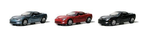 Set of 3 Cars: GreenLight 2010 Chevy Corvette Z06 1:64 Scale (Black/Blue/Red). #Cars: #GreenLight #Chevy #Corvette #Scale #(Black/Blue/Red)