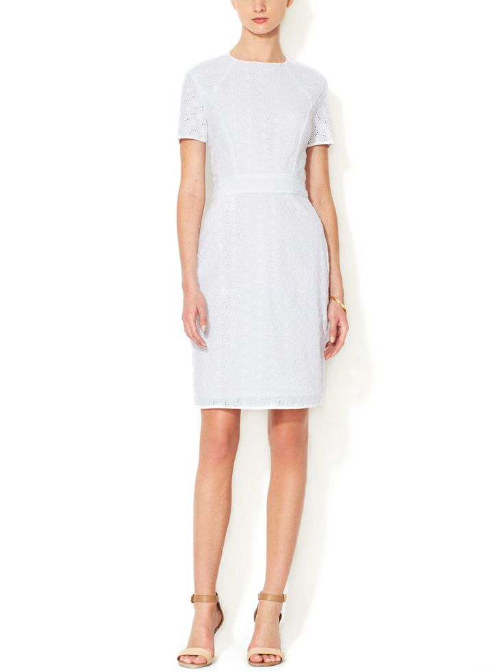Piped Eyelet A-Line Dress by Ava & Aiden at Gilt