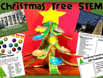 Christmas Tree STEM - engineering project for young kids