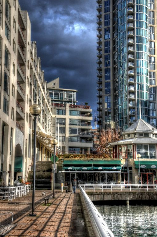 The north west corner of False Creek in downtown Vancouver.