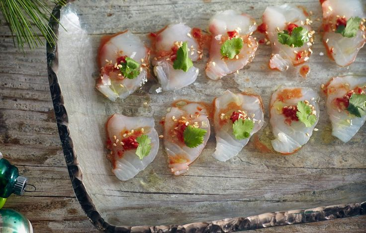 Snapper Crudo with Chiles and Sesame - Bon Appétit