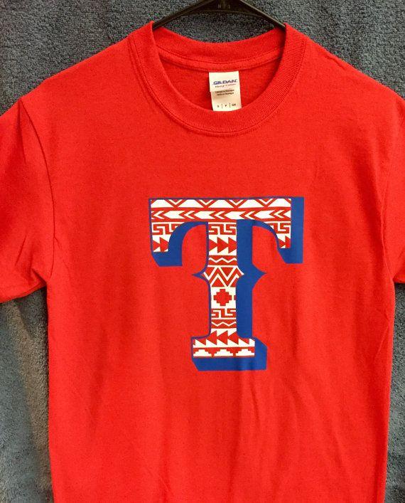 Sports Fan Shirts Texas Rangers T-shirts by KMFCustomDesigns