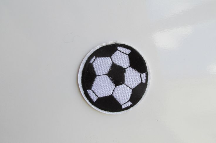 Football Iron on Patch small by TheIrishKnittingRoom on Etsy