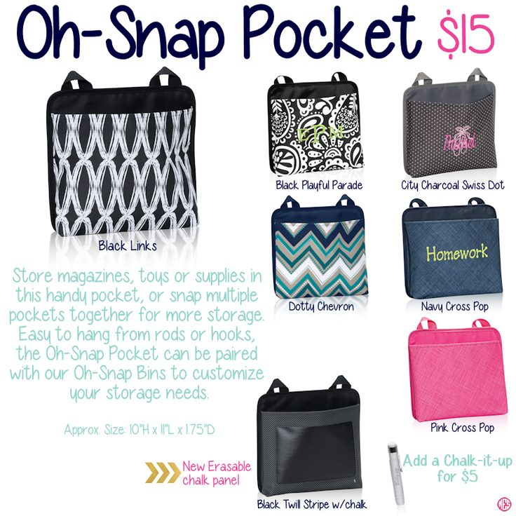 Oh-Snap Pocket by Thirty-One. Fall/Winter 2015. Click to order. www.mythirtyone.com/carlierooks