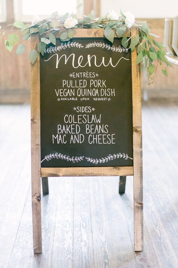Rustic wedding menu: http://www.stylemepretty.com/ohio-weddings/columbus/2015/09/30/romantic-outdoor-bohemian-woodland-wedding/ | Photography: Leigh Elizabeth - http://www.leighelizabeth.com/
