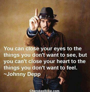 """Johnny Depp: """"you can't close your heart"""""""