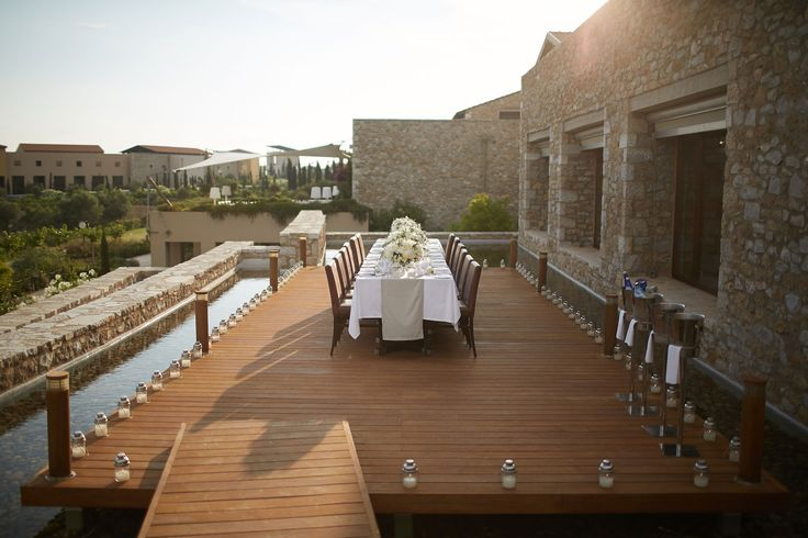 Only you and your guests to celebrate your special day on the deck creating an island feeling.