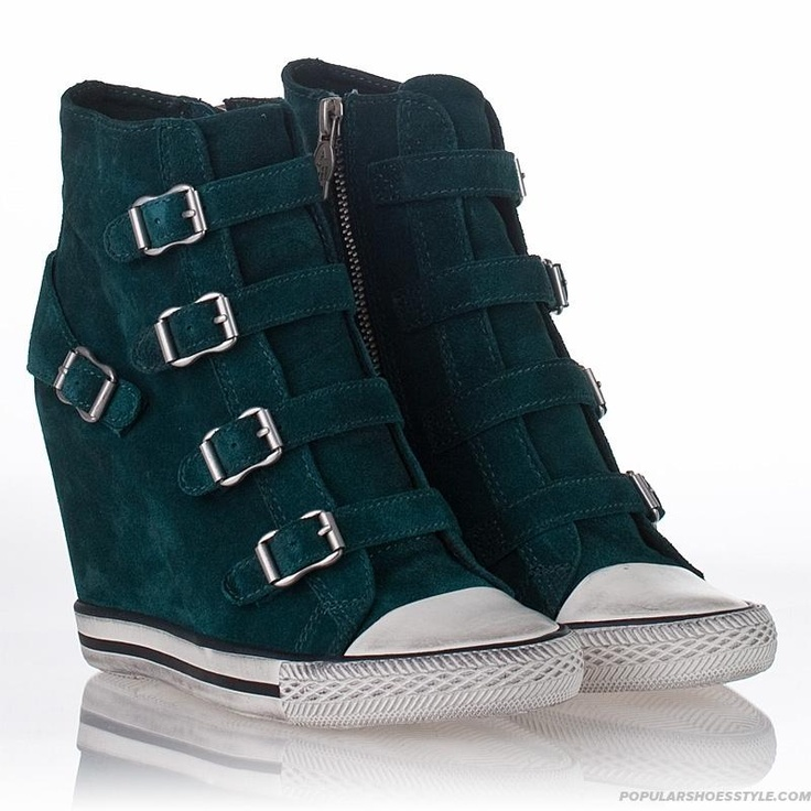 United-Wedge-Sneaker-English-Green-Suede