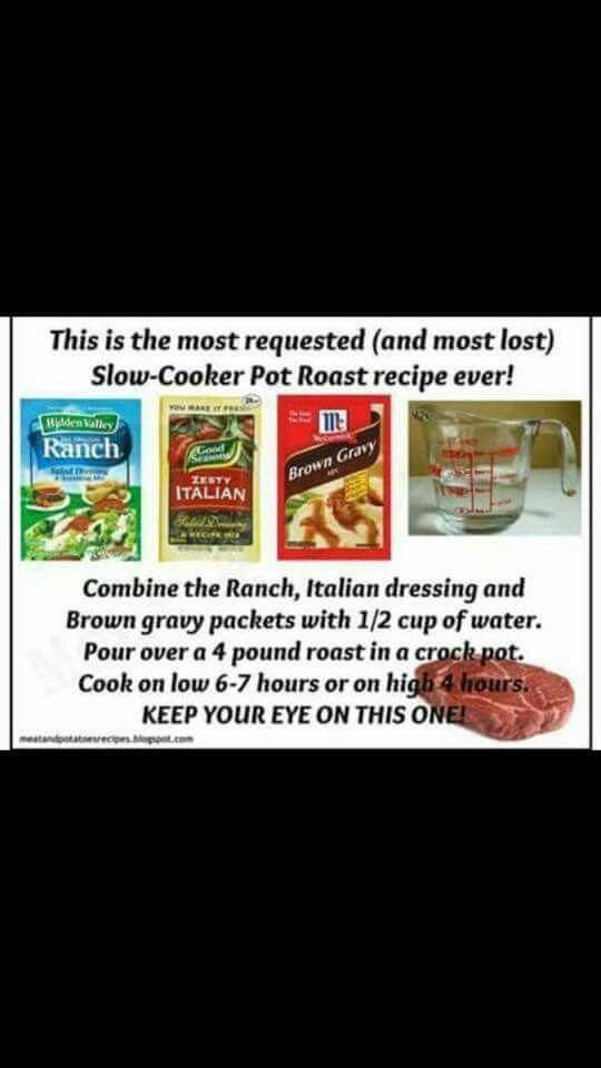 3 Packet Roast Crockpot