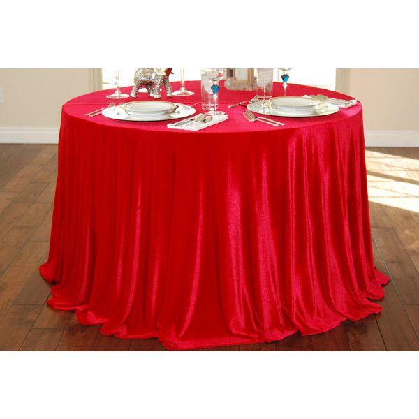Ships Immediately 96 Round Red Velvet Tablecloth Wedding Cake... ($70) ❤