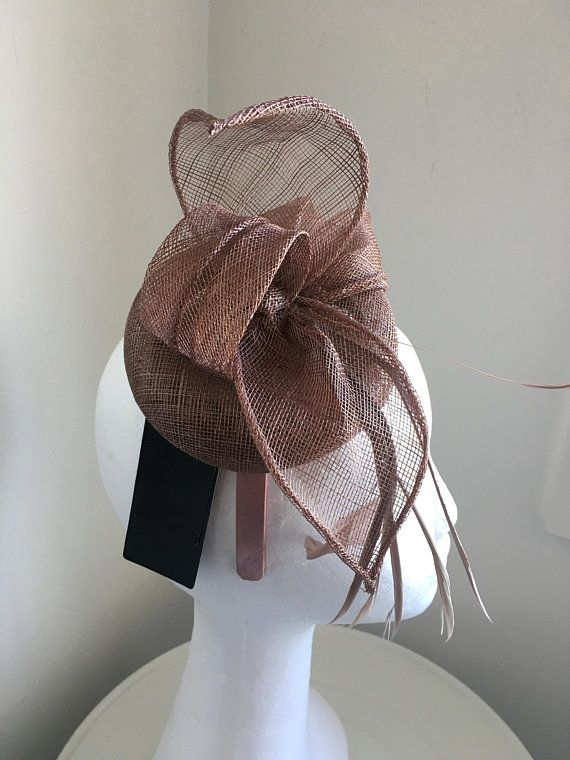TheHeadwearBoutique on Etsy- Betsy Taupe  Mushroom   Light Brown Kentucky  Derby Mini-Hat 2a9a5a8a448