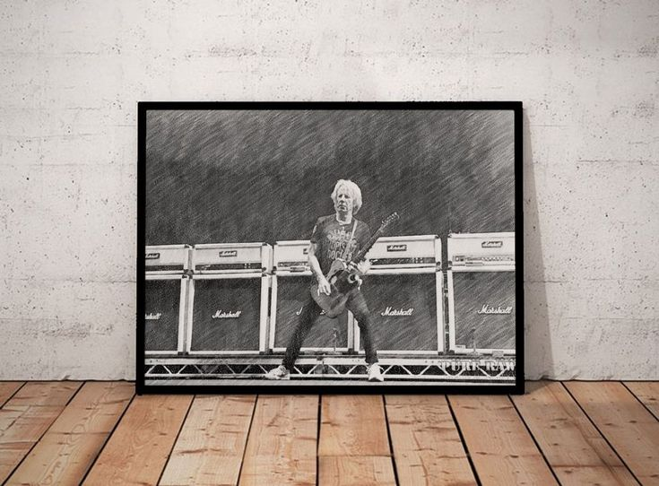 001 Rick Parfitt Status Quo Sketch Art Portrait Print A4 Poster Rare Collectable