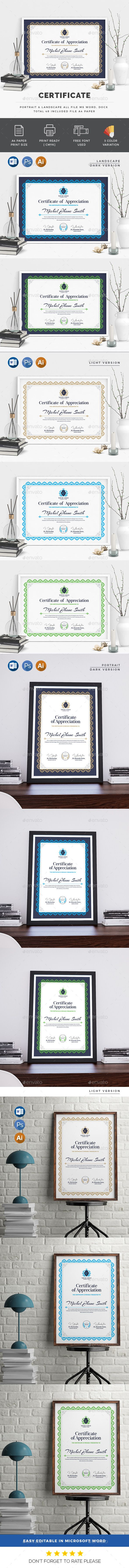 #Certificate - Certificates Stationery Download here: https://graphicriver.net/item/certificate/19612311?ref=alena994
