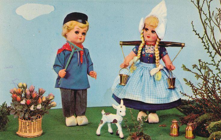 Даринчи, открытки с куклами советские
