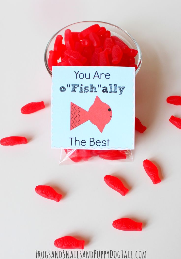 "You are o ""Fish"" ally The Best Valentine with FREE PRINTABLE TAGS on FSPDT"
