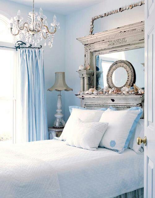 Blue Shabby Chic Bedroom