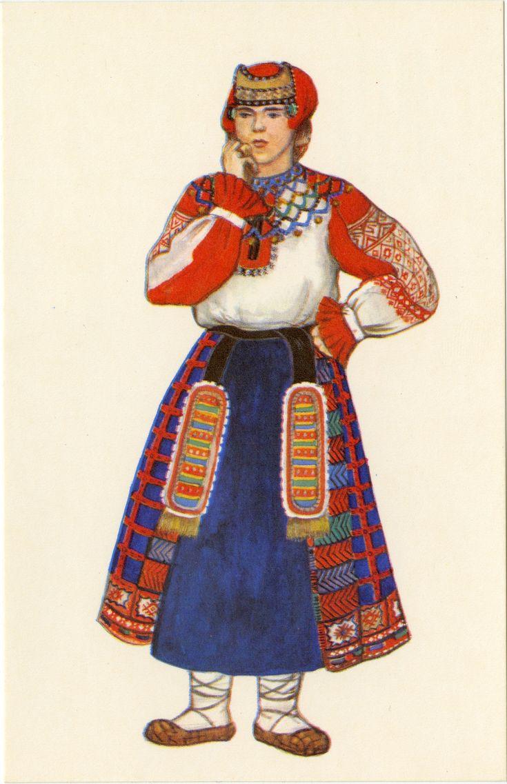 Русская одежда в открытках, открытках картинки мужчина