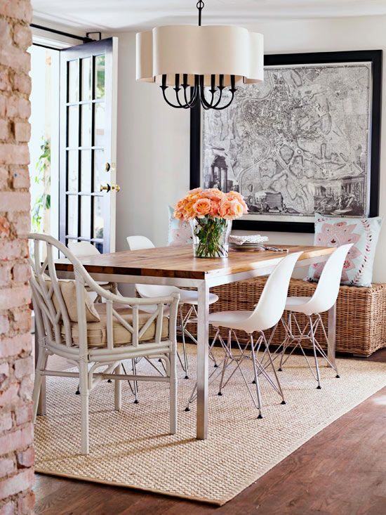 Lovely Small Dining Room - notice you don't have pieces competing for your attention..